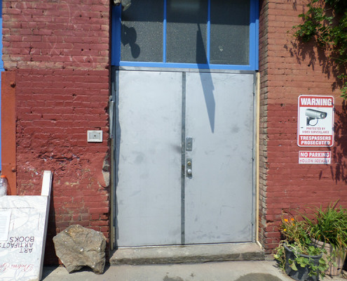 Capitol Fireproof Door Kalamein Entrance Doors with Welded Frame with Existing Transom Intact-Bronx-NY