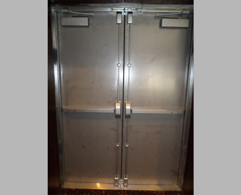 Capitol Fireproof Door Pair of Fire Exit Doors with Vertical Exit Device-Bronx-NY