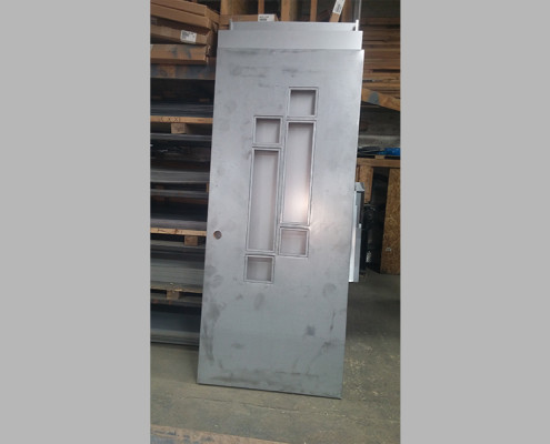Capitol Fireproof Door Kalamein Building Entrance Door 6 Light-Bronx-NY