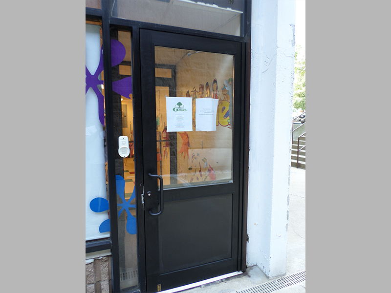 Capitol Fireproof Door Aluminum Door and Frame Duronotic Half Glass-Bronx-NY