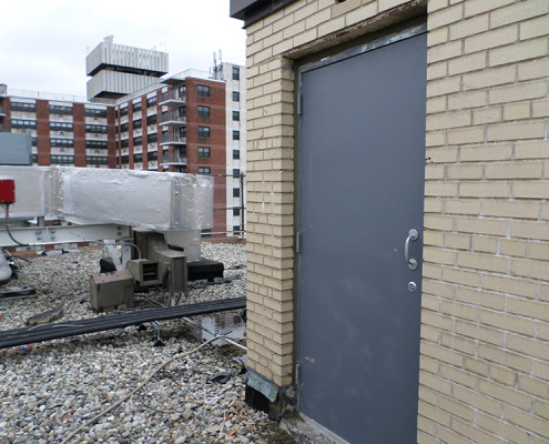Capitol Fireproof Door Kalamein Roof Door with New Welded Masonry Frame-Bronx-NY
