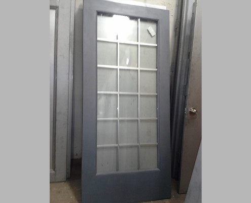 Capitol Fireproof Door Kalamein Door with 18 Light Insulated Glass-Bronx-NY
