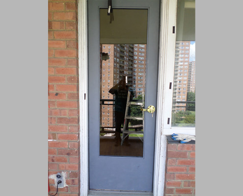 Capitol Fireproof Door Terrace door with Lever Handle-Bronx-NY