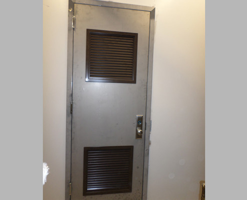 Capitol Fireproof Door Kalamein Door with Frame and Top and Bottom Louvers-Bronx-NY