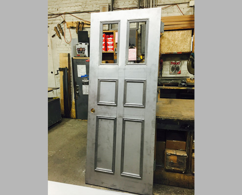 Capitol Fireproof Door Custom Kalamein Entrance Door with Two Glass and Four Raised Moldings-Bronx-NY