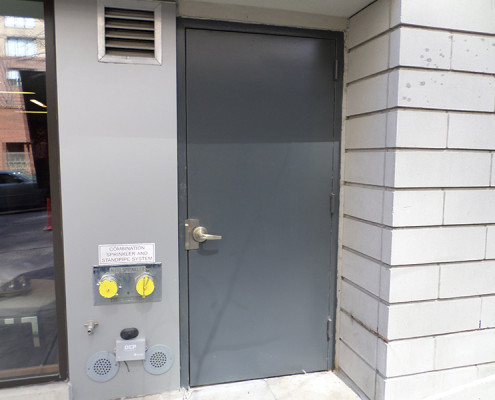 Capitol Fireproof Door Hollow Metal Flush Door Installed-Bronx-NY