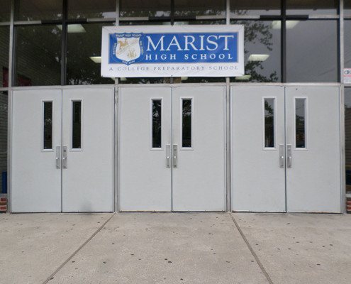 Capitol Fireproof Door Hollow Metal School Entrance Doors with Side Vision-Bronx-NY