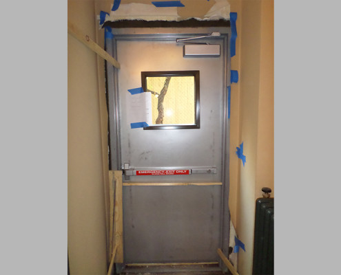 Capitol Fireproof Door Fire Exit Door with Vision Masonry Installation-Bronx-NY