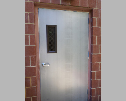 Capitol Fireproof Door Oversized Exit Door with Side Vision Glass Outside View-Bronx-NY