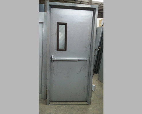 Capitol Fireproof Door Kalamein Fire Exit Door with Side Vision and Masonry Frame-Bronx-NY