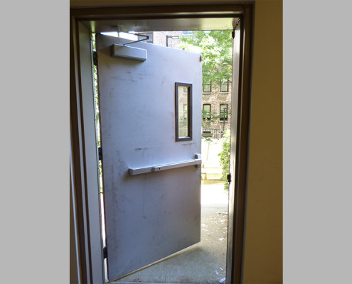 Capitol Fireproof Door Kalamein Oversized Exit Door with Side Vision Glass-Bronx-NY