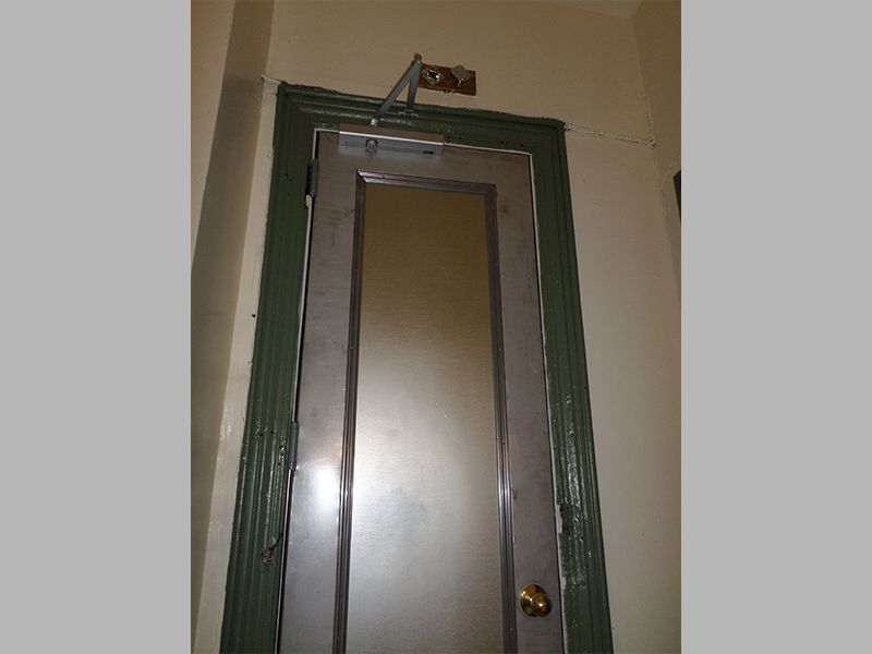 Capitol Fireproof Door Recessed Panel Kalamein Door with Angle Iron Frame and Closer-Bronx-NY