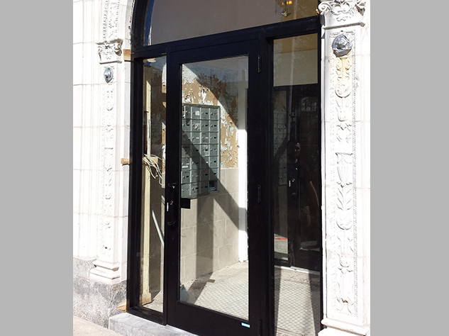 4-Capitol_Fireproof_Door Aluminum Entrance Door with Arched Transom – Newark