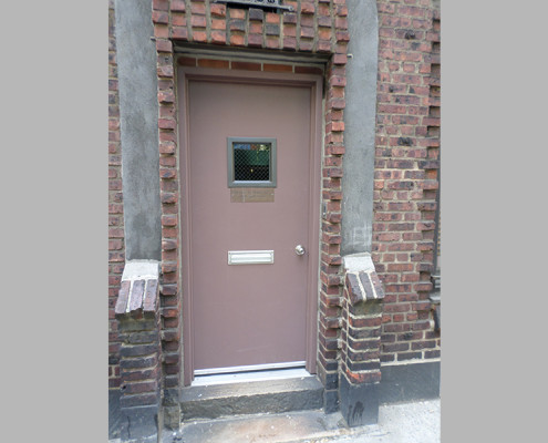 Capitol Fireproof Door Kalamein Door with Mail Slot Hardware-Bronx-NY