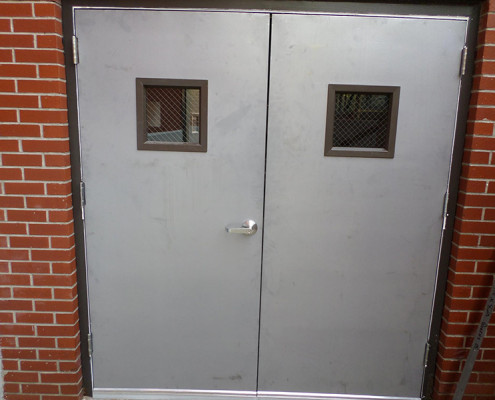 Capitol Fireproof Door Kalamein Pair Vision Fire Exit Doors-Bronx-NY