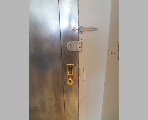 Capitol Fireproof Door Kalamein Two Seam Door with Jimmy-Lock and Motise Lock Hardware-Bronx-NY