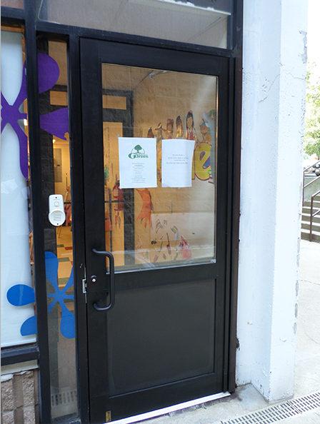 Capitol Fireproof Door Aluminum Door and Frame Duronotic Half Glass-Bronx-NY