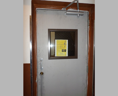 Capitol Fireproof Door Kalamein Exit Door with Angle Frame with 18x18 Wire Glass Window-Bronx-NY