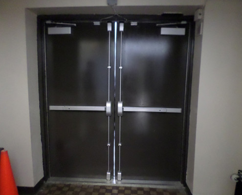 Capitol Fireproof Doors Hollow Metal Pair Exit Doors with Vertical Panic Hardware-Bronx-NY